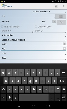Mobile screen view of crash reporting software
